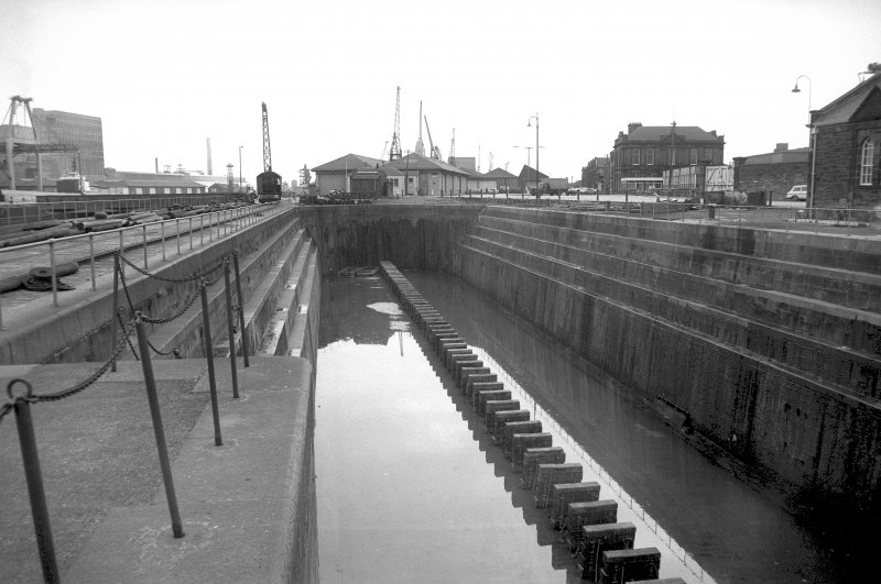 View from WNW showing dry dock