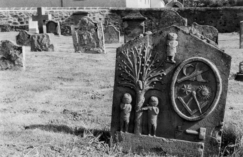 Gravestone to the children of John Watt, 1769, Methven Parish Church.