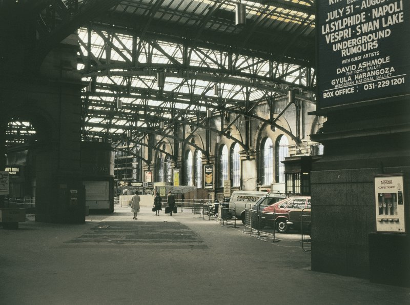 Interior View showing 1906 station extension