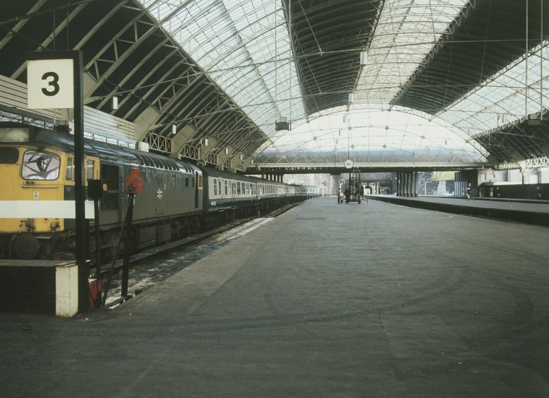 Interior View showing Glasgow - Edinburgh train at platform 3