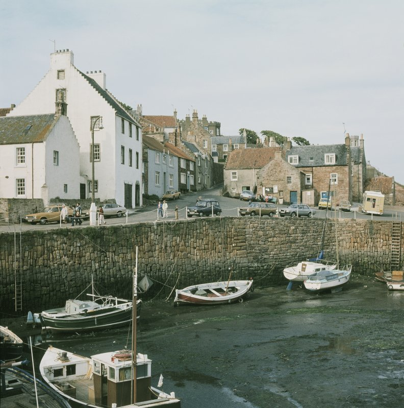 View from SW looking across harbour toward (left to right) no 37, customs house, nos 36 and 34