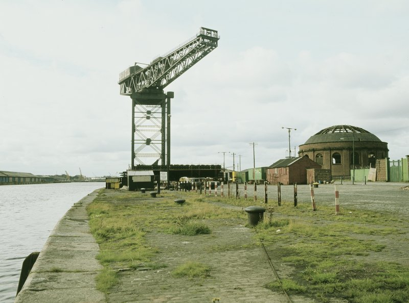 General view from ESE showing crane and N rotunda