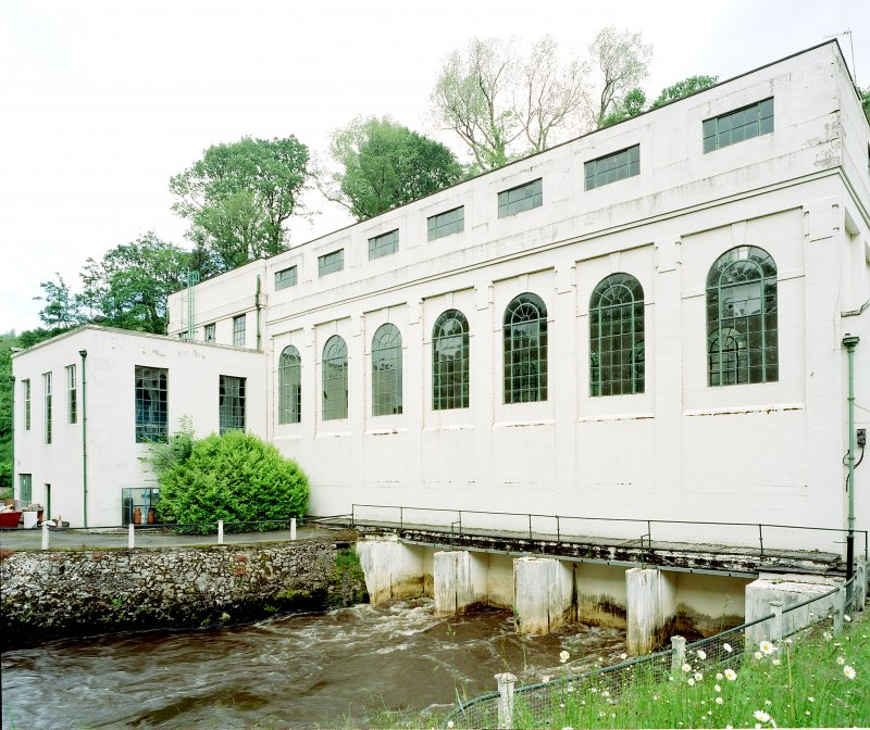 View of Stonebyres hydro-electric power station