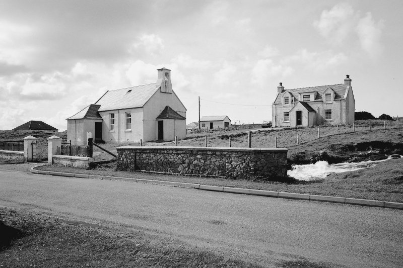 View of Church of Scotland and manse from SE Digital image of B 76321