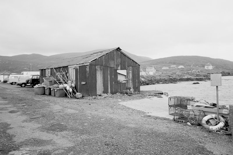 View of pier shed from W Digital image of B 76332