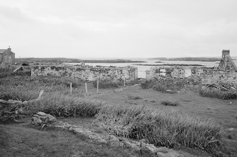 View of ruined buildings in pier area from NE Digital image of B 76335