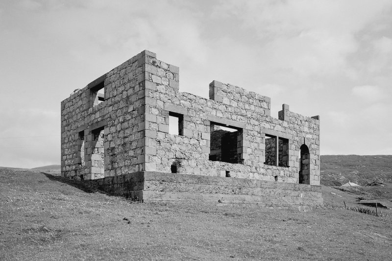 View of uncompleted house in pier area from W Digital image of B 76346