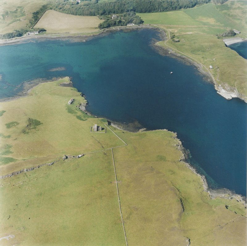 Canna, Church of Scotland: aerial view. Digital image of C 40390 CN