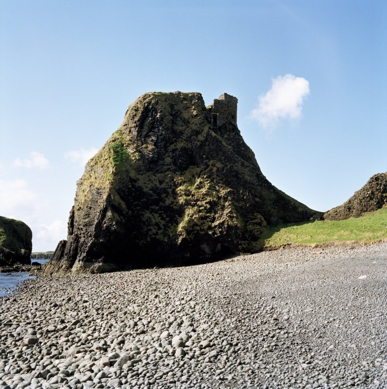 Canna, Coroghan (Coroghon) Castle. View from NE. Digital image of C 45248 CN
