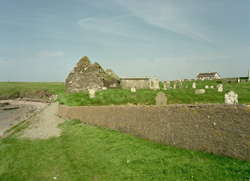 Distant view of chapel from SW Digital image of D 18031 CN
