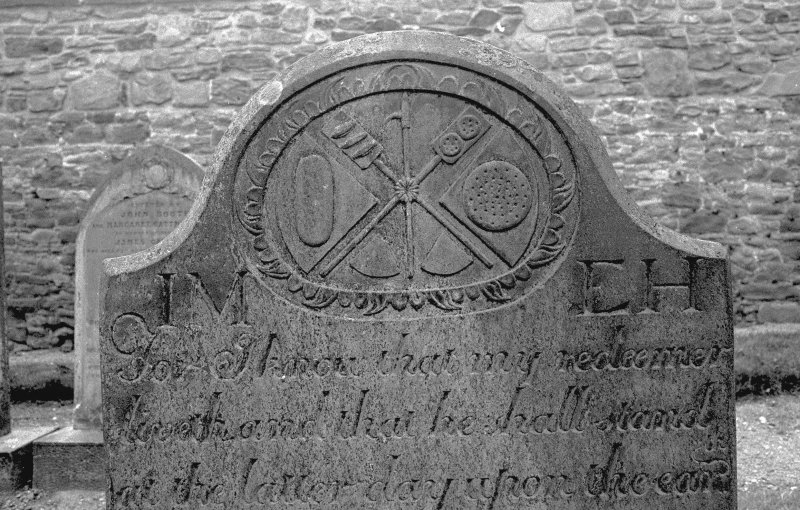 View of gravestone of James Milne, 1779. Digital image of AN 6556.