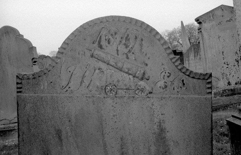 View of gravestone of James Keill, gunner, 1817. Digital image of AN 6552.