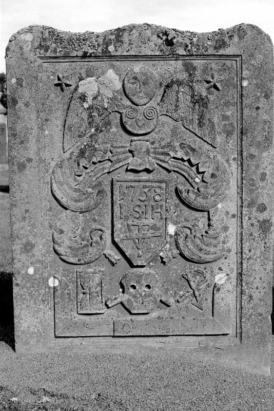 View of gravestone of John Smith and Jannet Honey. Digital image of B 4030/21