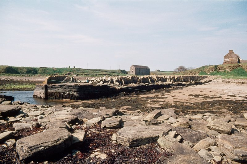 View from NE showing harbour with N and E fronts of mill in central background
