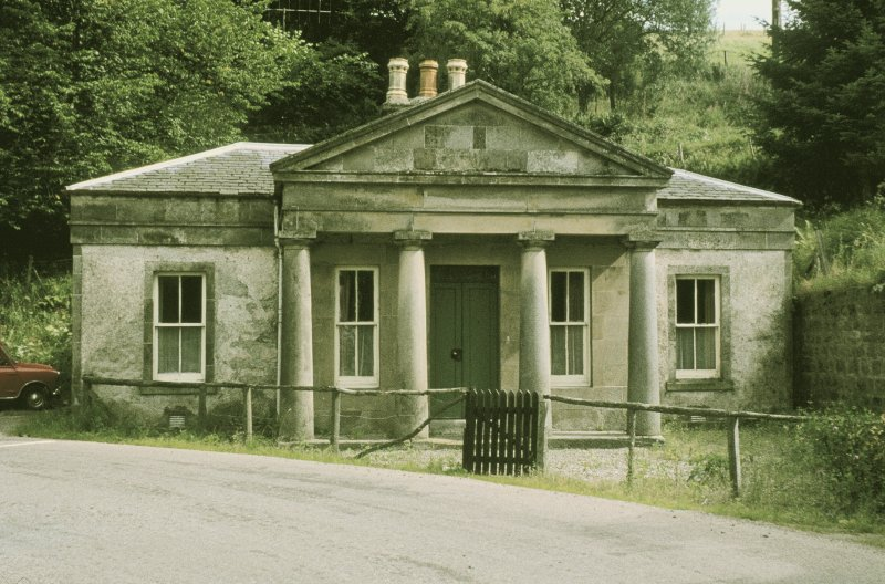 View from WNW showing WNW front with tetrastyle Doric portico