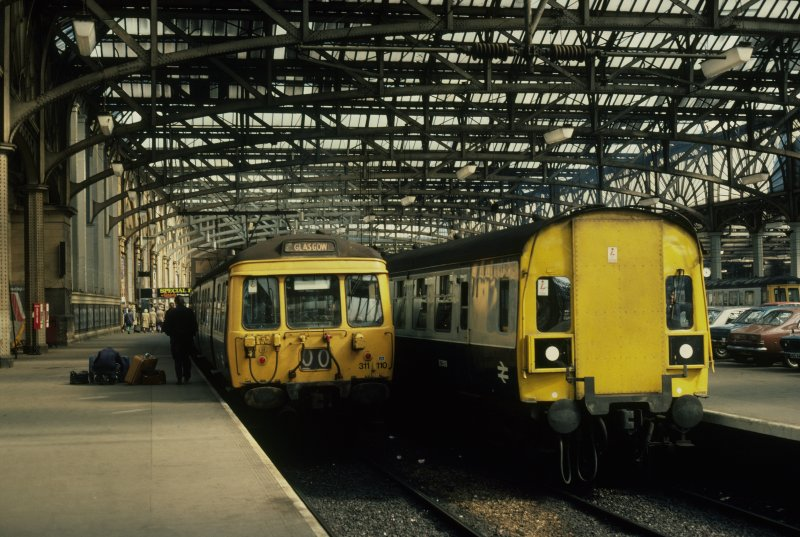 View from S showing Ayr and Clyde Coast trains at platforms