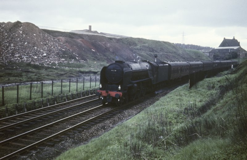 View from S showing locomotive no 60524 with Aberdeen - Glasgow train