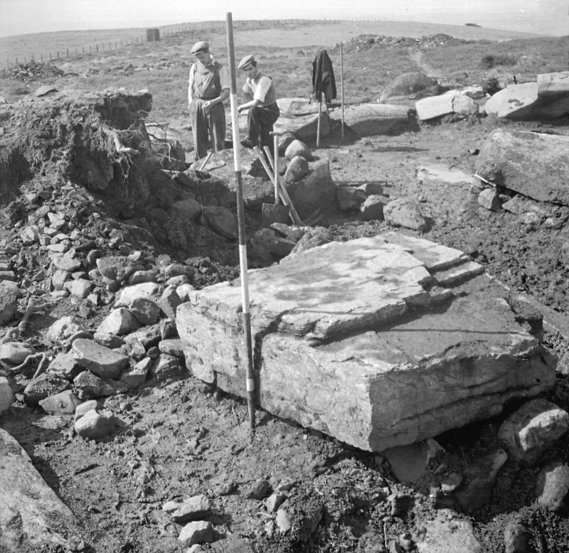 Digital image of an excavation photograph by Prof. S. Piggott