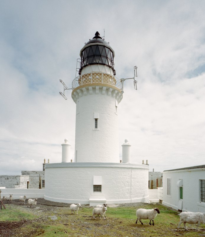 View of Barra Head Lighthouse, Berneray from W.