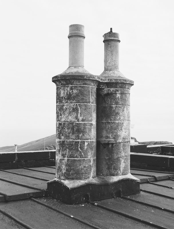 Detail of typical chimney stack and fireclay cans of lightkeepers' houses, photographed 28 July 1993 Digital image of C 19688