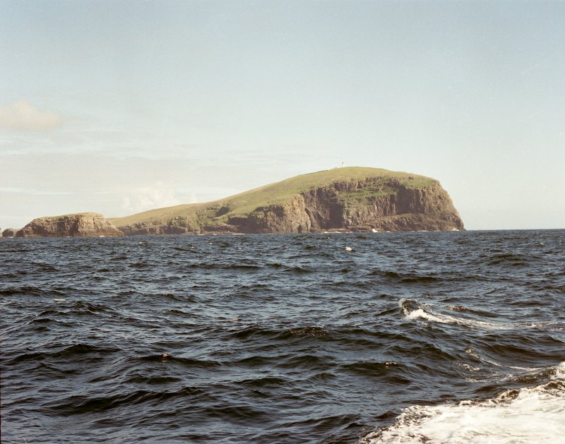 General view of island of Berneray, showing Barra Head Lighthouse, photographed 28 July 1993 Digital image of C 19679 CN