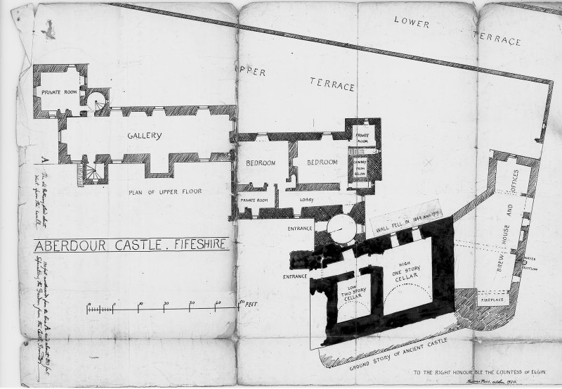 Annotated floor plan, Dr Thomas Ross Digital image of FID 37/30