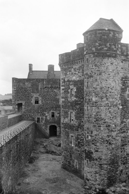 Blackness Castle View from North East within curtain wall Digital image of WL 610