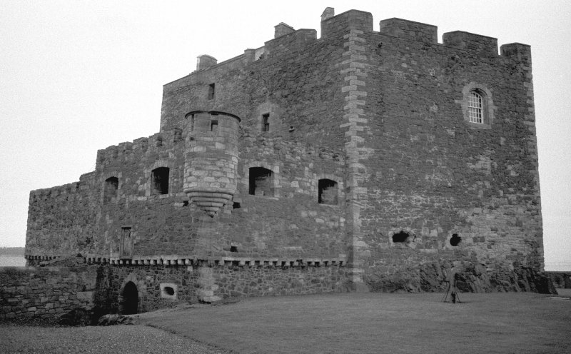 Blackness Castle View from South West showing curtain wall Digital image of A 54892
