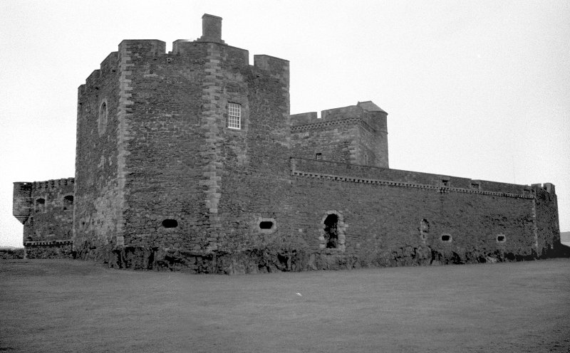 Blackness Castle View from South East showing curtain wall Digital image of A 54893
