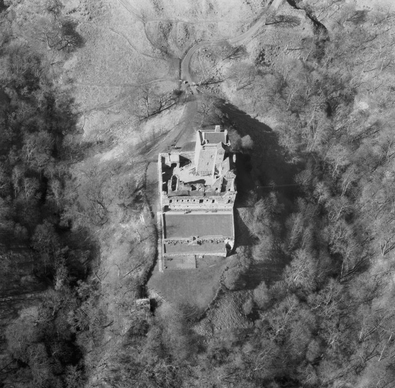 Scanned image of a selected enlargement of an oblique aerial view.