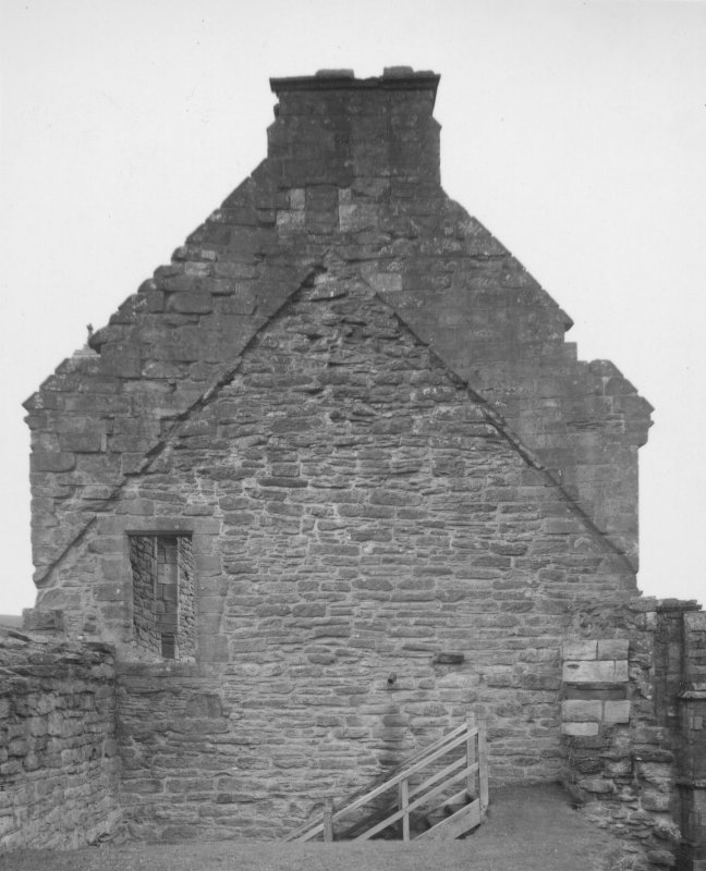 Detail of gable at North End of dorter. Digital image of AY 534