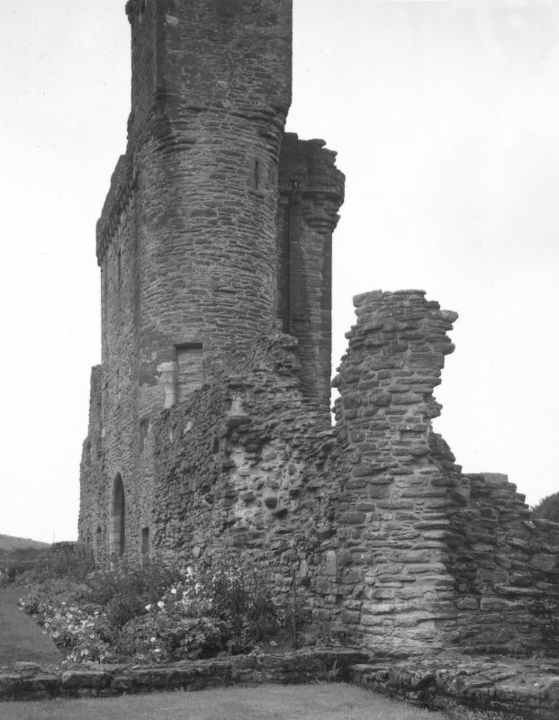 View of parapet walk and gatehouse from East. Digital image of AY 535