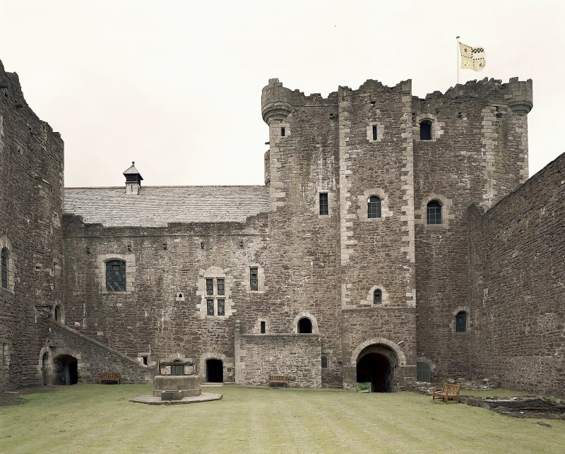 Doune Castle. Inside courtyard from South. Digital image of A 7142 CN