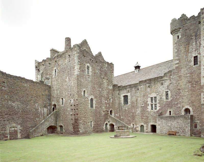 Doune Castle. Inside courtyard from South-East. Digital image of A 7140 CN