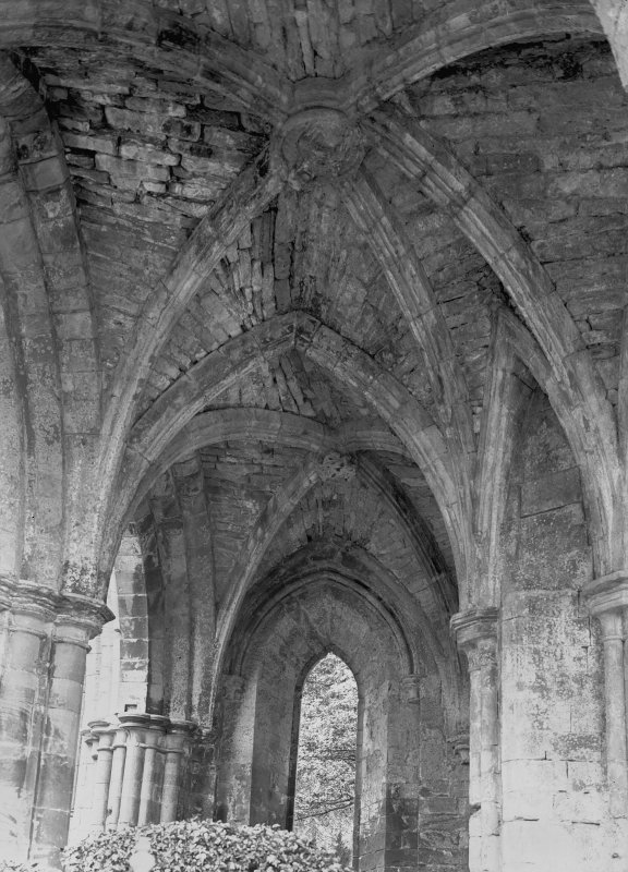 Interior, North Transept Aisle, Dryburgh Abbet. Digital image of BW 41.