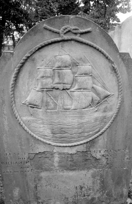 Montrose Churchyard. Digital image of headstone, Isobell Mearns, 1812.