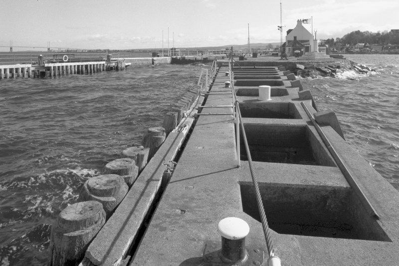 Inverness, Clachnaharry, Caledonian Canal, Clachnaharry Sea Lock View from the west-north-west taken from the end of the protective breakwater looking up towards the bottom lock gates of the sea lock, ...