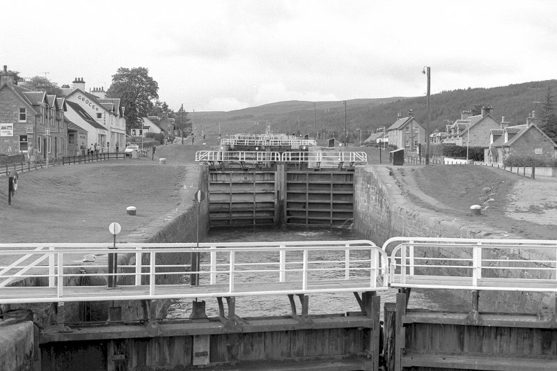 General view looking WSW from bottom of Fort Augustus Locks Digital image of A 140