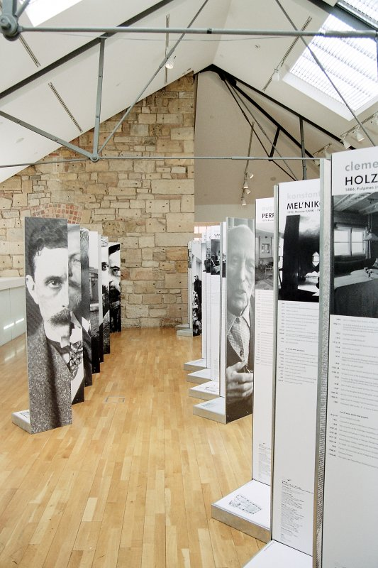 View of '100 Houses for 100 European Architects of the 20th Century' exhibition. DIGITAL IMAGE ONLY