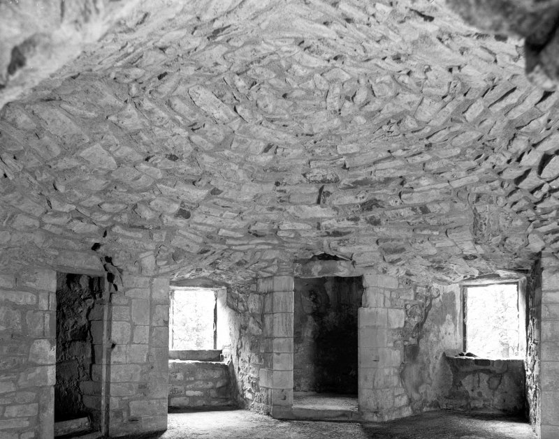 Interior view of servants' room, with access to Lord's room above, at Huntly Castle Digital image of AB 1396