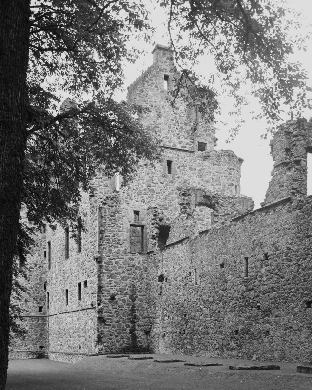 View from South East of Huntly Castle Digital image of AB 1387