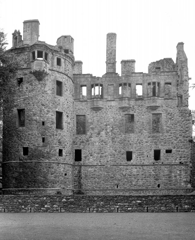View of South front of Huntly Castle Digital image of AB 1386