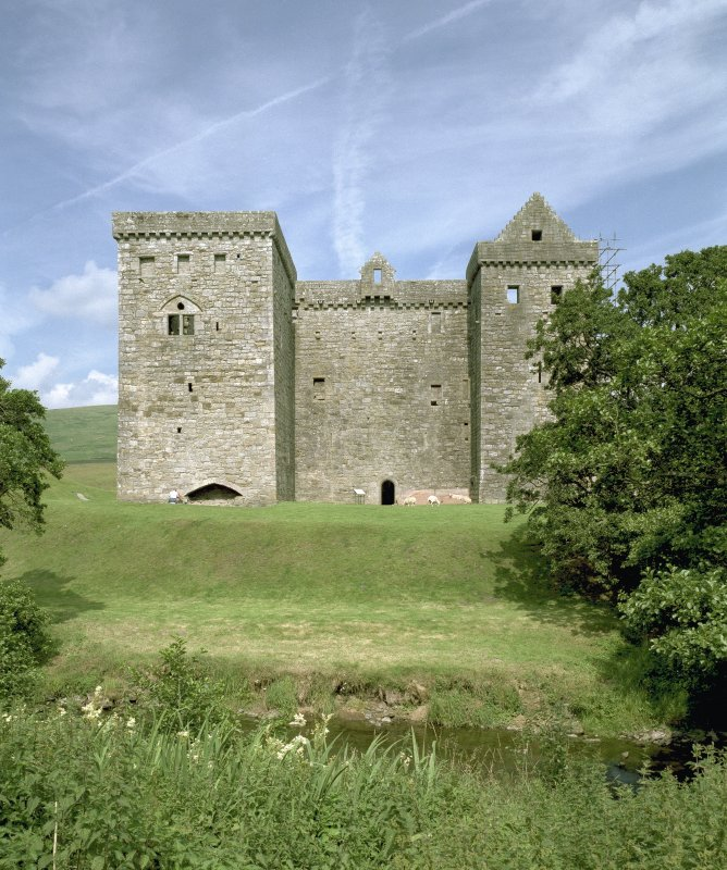 View of south elevation of castle. Digital image of C 67760 CN