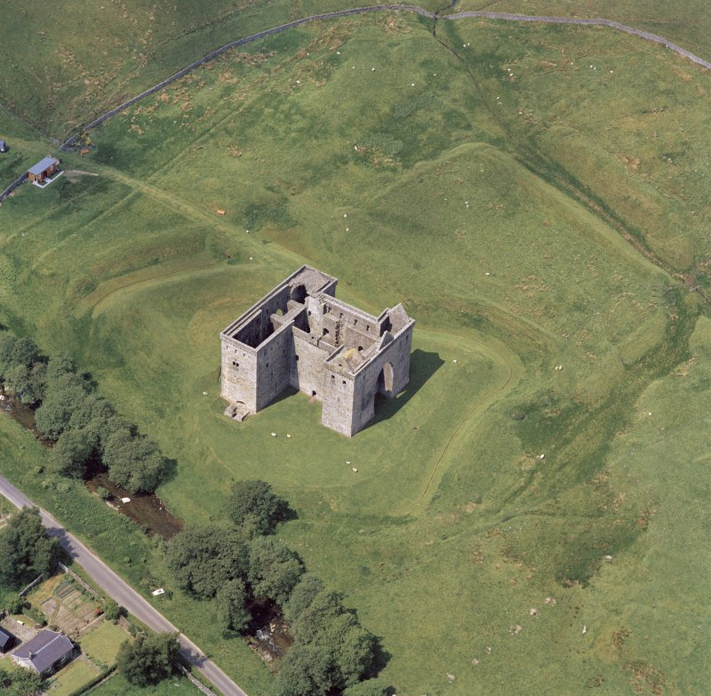 Oblique aerial view from South East