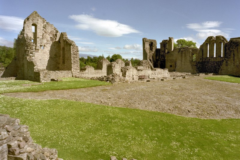 View towards North-East corner of castle from South-West tower. Digital image of D 59258.