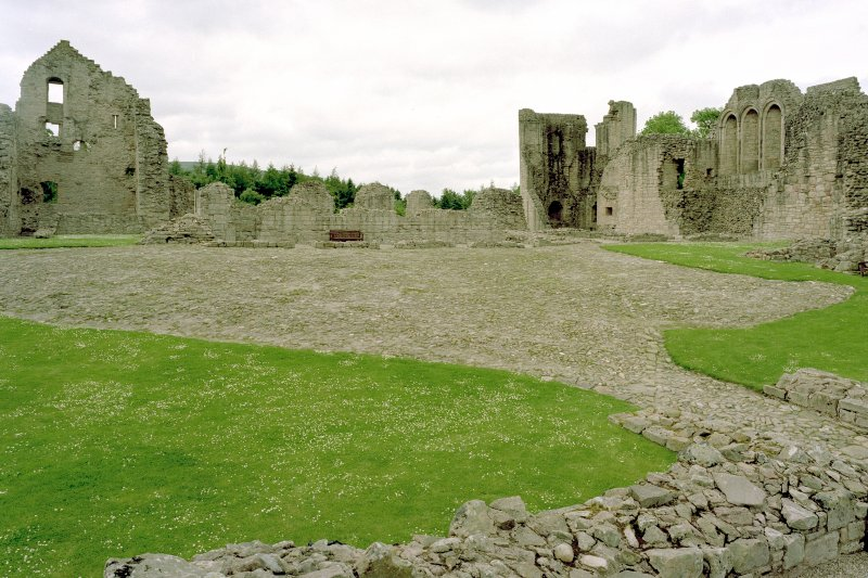 View towards North-East corner of castle from gatehouse. Digital image of D 59255 CN
