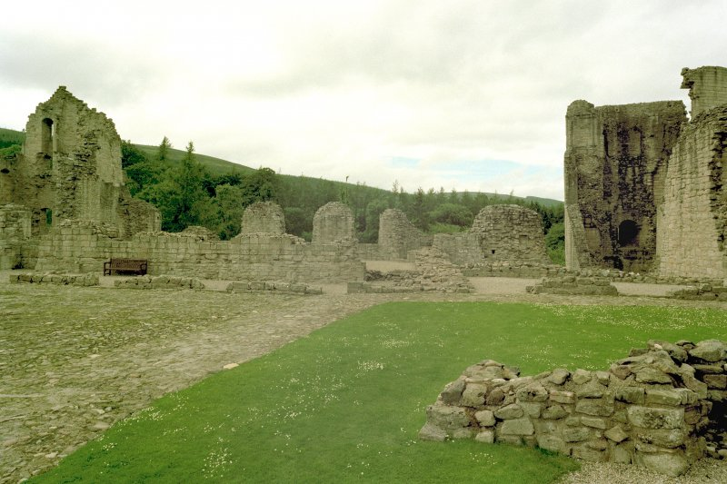 View towards North-West side of castle from the bakehouse. Digital image of D 59253 CN