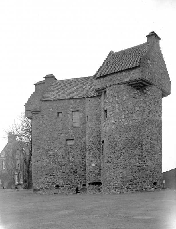 Dundee, Claypotts Road, Claypotts Castle. General view from North-East. Digital image of AN 761.