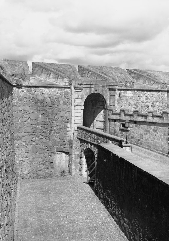 Stirling Castle, counter guard View of over port and over port battery Digital image of ST 1000