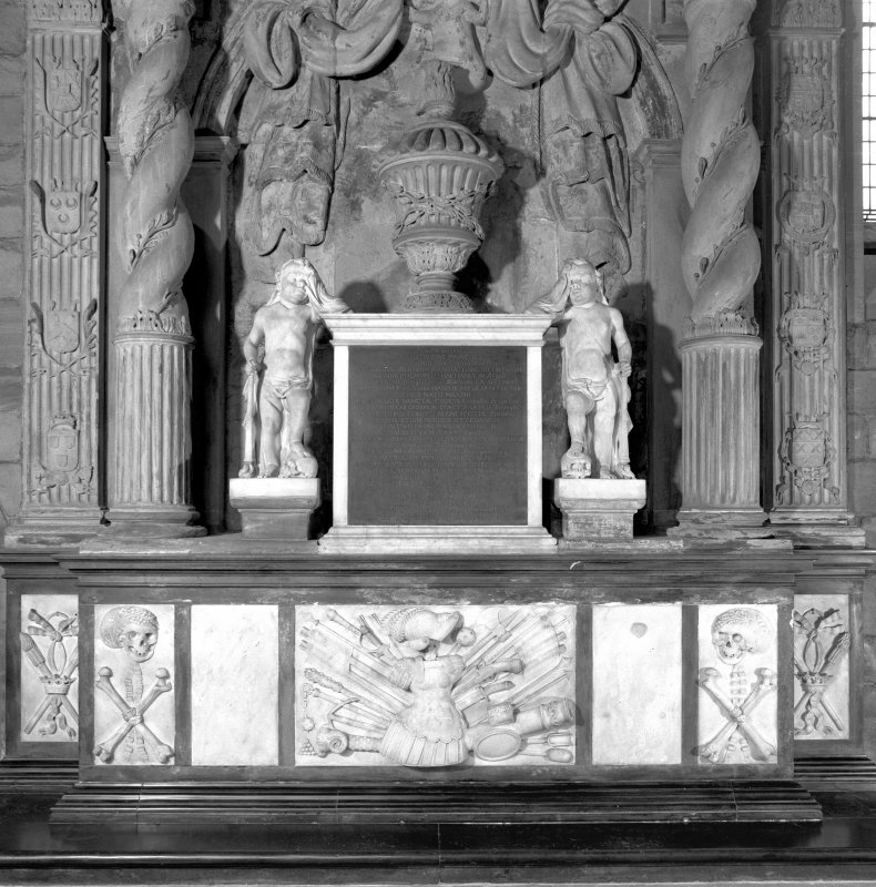Interior. Hamilton Monument.  View of the lower half of the monument Digital image of D 3580.